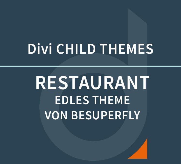 DIVI Child Theme – Restaurant by BeSuperfly