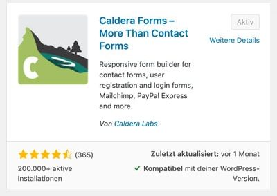 Caldera Forms in der WordPress Repository